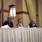 Panelists at the 2014 Thank You Breakfast included (L to R) Felicia Greenfield, LCSW, John Trojanowski, MD, PhD; David Wolk, MD, and Steven E. Arnold, MD.